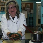 Chef Karen Barnaby cooking up quinoa at the Downtown Eastside Neighbourhood House