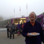 Ross Moster (Village Vancouver) enjoying Super Thai Food Truck at From Here to There