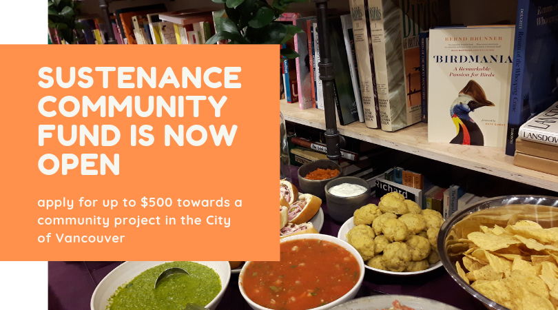 Sustenance Community Fund is now open for projects up to $500