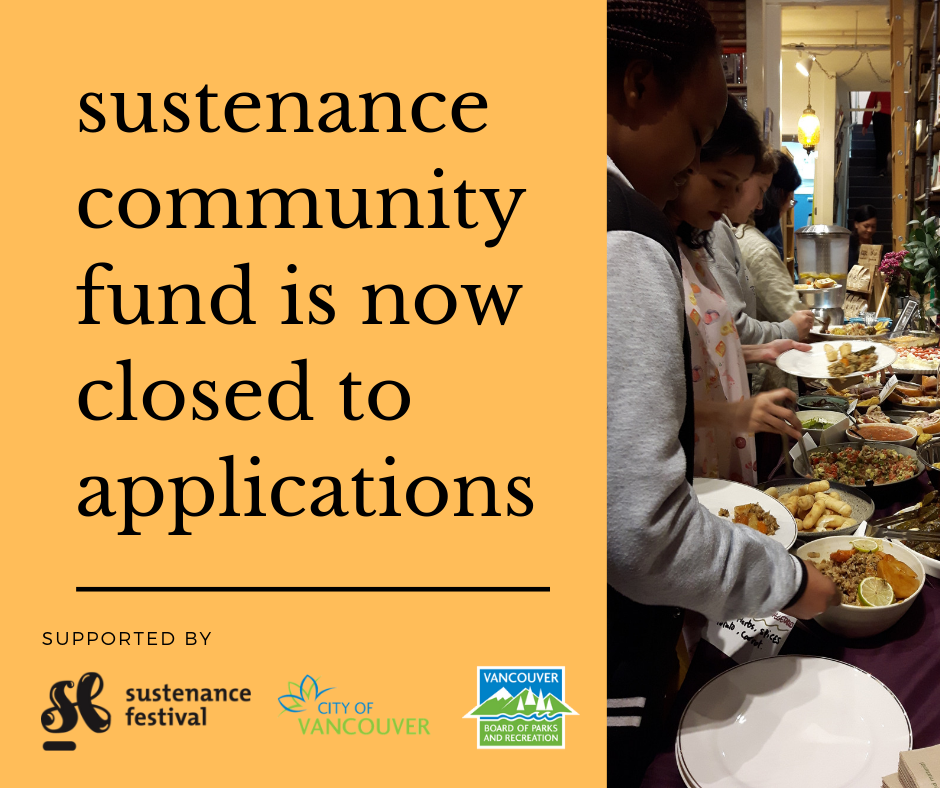 Sustenance Fund is now closed to applications